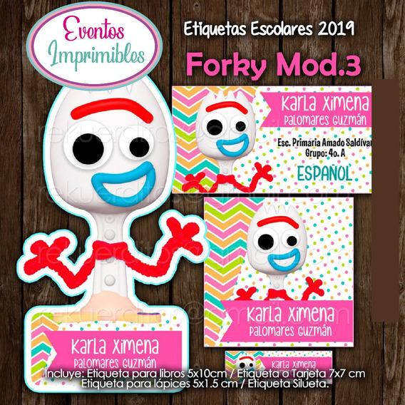 Etiquetas Escolares Niña Forky 2019 Toy Story
