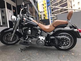 Harley Davidson Fatboy Preta 2013