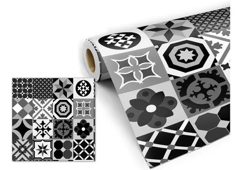 Adesivo Decorativo Papel De Parede Tons De Cinza 50cmx3,00mt