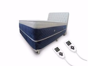 Colchão Magnético Queen Hr Massag Ener. Quântica + Box + Cab