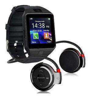 Kit Fone Sem Fio Bluetooth 503 Relógio Smartwatch Dz09