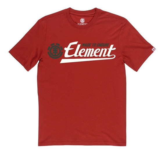 Remera M/c Element Signature Colors Tee Red Hombre Meremsic