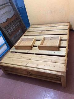 Box Matrimonial Madera Con Cajones