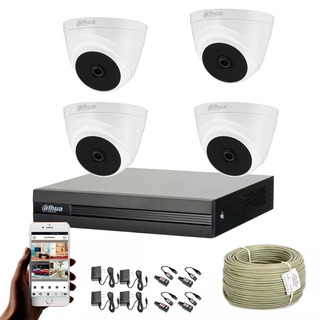 Cámaras De Seguridad Kit Cctv 1080p Cooper By Dahua Dvr+4cám