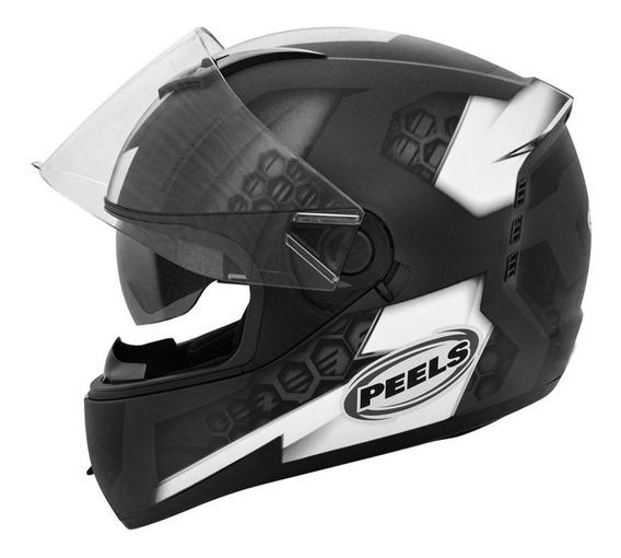 Capacete para moto integral Peels Icon Dash preto/branco M