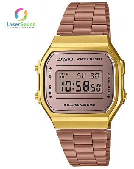 Relógio Casio Feminino Vintage A168wecm-5df, C/garantia E Nf