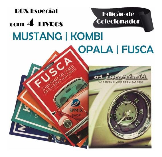 Box 4 Livros Historia Mustang Kombi Opala Fusca Os Imortais