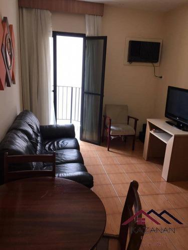 Apartamento 1 Dormitório - Sacada - Lazer -  Gonzaga - Santos - 1419