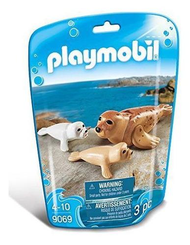 Imagem 1 de 3 de Playmobil Animais Marinhos - Família Foca - 3 Pc - 9069