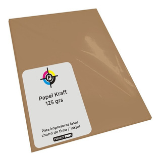 Papel Kraft A4 Misionero Madera 125 Grs Paquete 100 Hojas