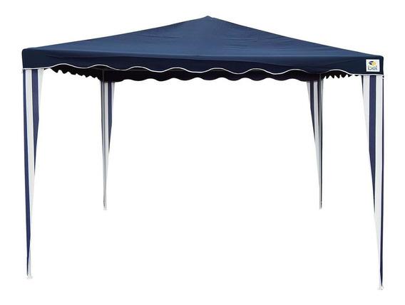 Tenda Gazebo Camping Bel Lazer Poliéster Armação Ferro Azul