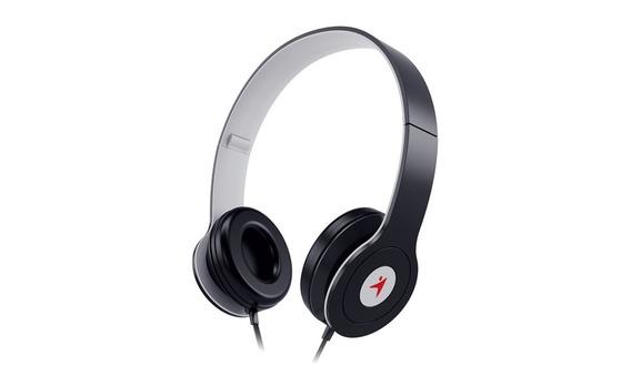 Headphone Dobrável Com Microfone Controle De Volume Preto
