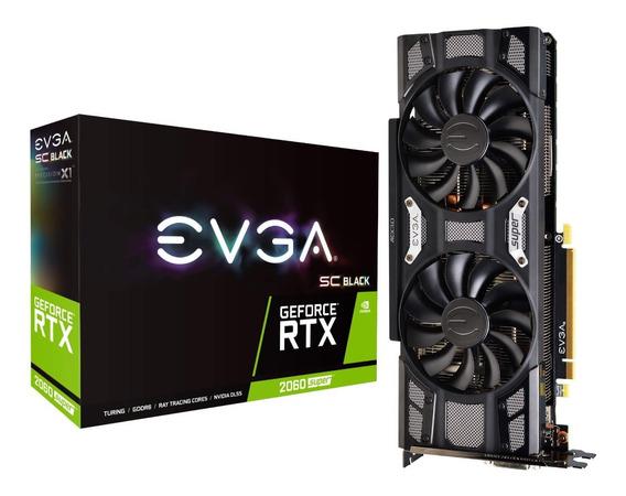 Placa Video Geforce Gtx 2060 8gb Ddr6 Super Black Sc Evga !!