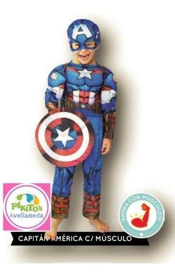 Disfraz Oficial Capitan America Musculoso Disney