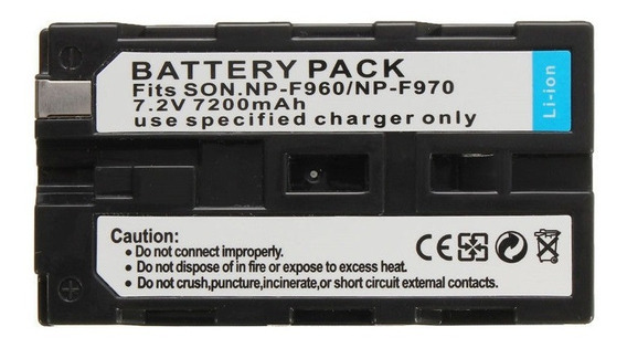 Bateria F970 7200 Mah E Carregador Rápido Yn360 Yn300 Yn600
