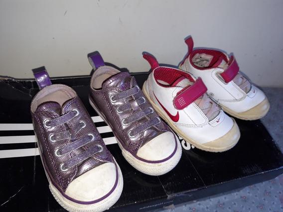 Zapatos De Niña Marca Nike Y Converse Talla 12-13 Cm