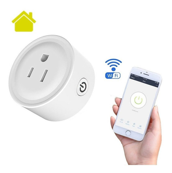 Contacto Inteligente Wifi App Led Smart Plug Socket Apagador Temporizador Google Home Alexa Celular