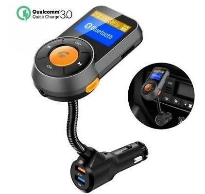 Transmissor Fm Veicular Bluetooth Atende Cartão Sd Mp3 Usb