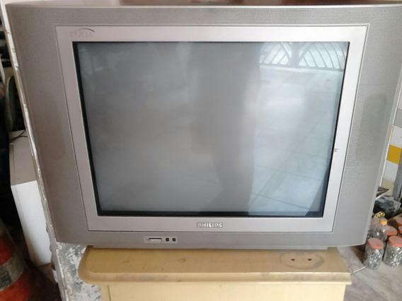 Tv Philips Tela Plana 21 Polegadas Somente Retirada No Local