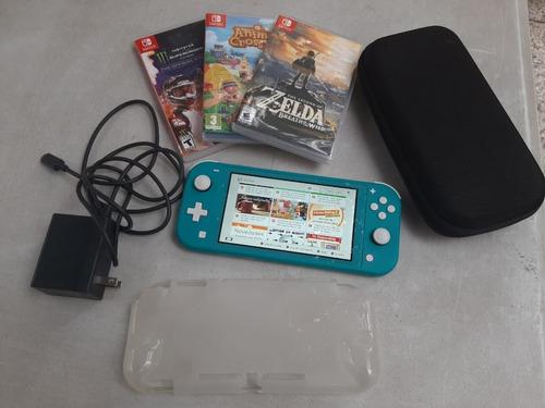 Nintendo Switch Lite +128gb+3juegos+funda+estuche Reyes!!!