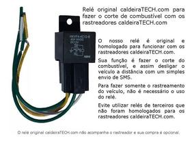 Relé Corte Combustível Corte Motor Rastreadores Caldeiratech