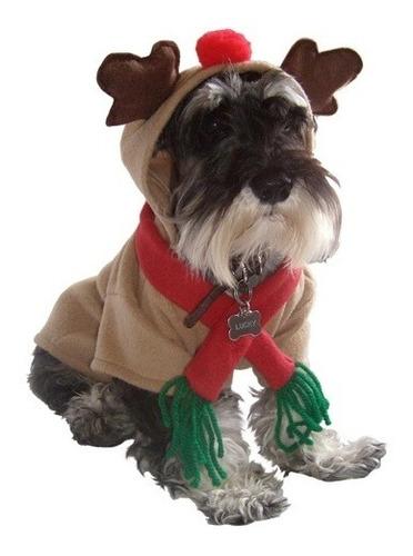Disfraz Sudadera Reno Navidad Polar Perro Talla 8 Pet Pals