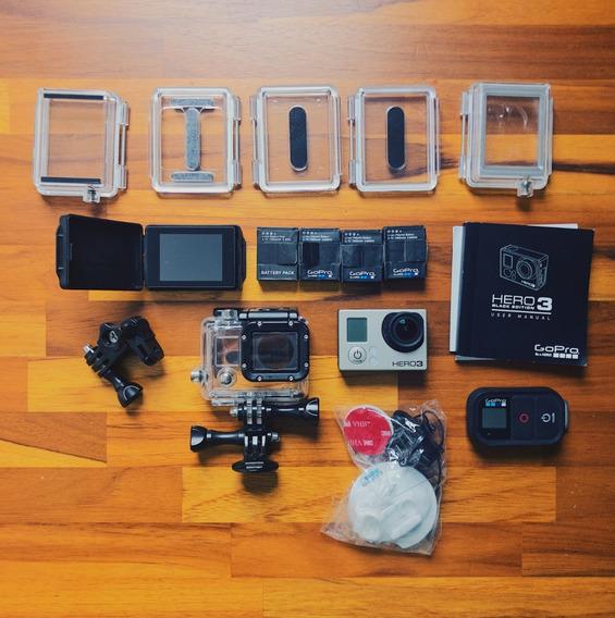 Câmera De Ação Gopro Hero3 Black Com Lcd Bacpac