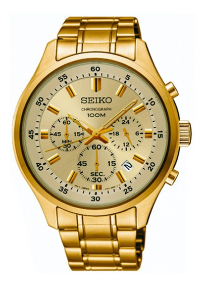 Relógio Seiko Masculino Sks592b1 C1kx Chronograph Dm 45mm