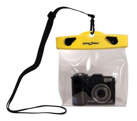 Estojo Bolsa Embalagem Impermeável Câmera Fotográfica Dry Pak 15x20x5cm
