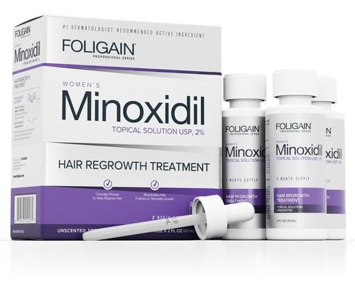 Imagen 1 de 5 de  Foligain Minoxidil 2% Para Dama Tratamiento 3 Meses