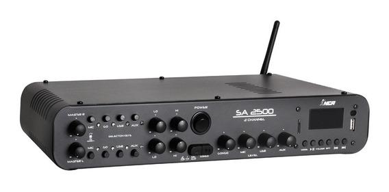 Amplificador Compacto Amplificado Nca Sa2500 180w Bt Fm Gong