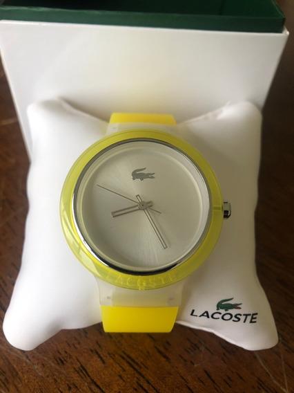 Relógio Lacoste Amarelo Pulseira De Borracha Lc2020057