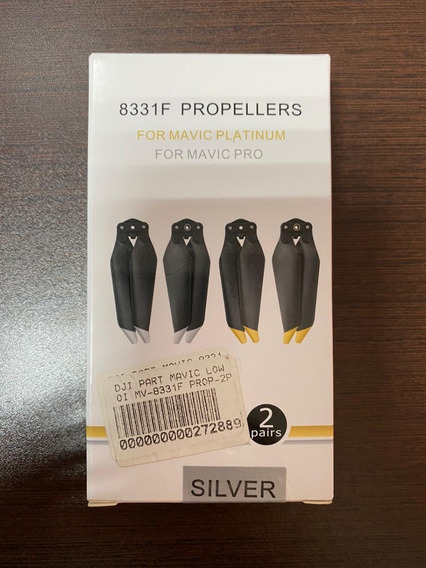 Jg 4 Hélices Oem Mavic Pro Platinum 8331 Low Noise Silver
