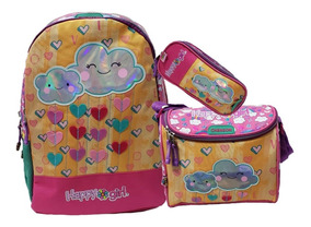 Kit Escolar Chenson Happy Girl Mochila + Lonchera + Lapicera