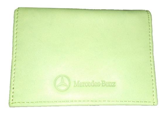 Tarjeteros Originales De Piel Mercedes Benz Unisex