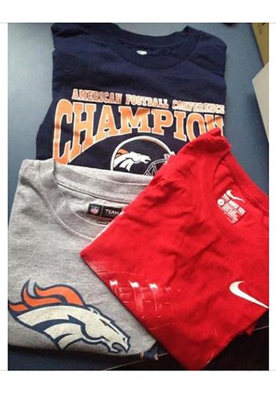 Lote 3 Camisetas Nfl Futebol Americano Espn Time Ny Broncos