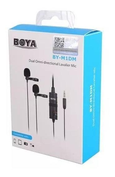 Boya Original By-m1dm 2 Em 1 Microfone Lapela Duplo Mic M1dm