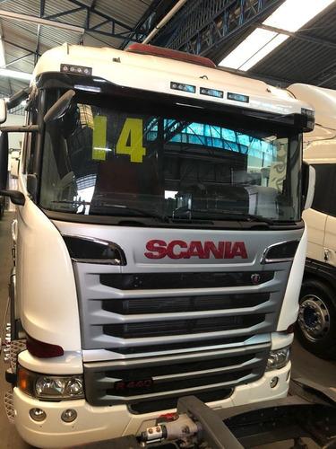 Caminhão Scania 440 Branco 2014 Truck