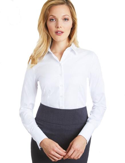 Camisa Mujer Elastizada Entallada Uniforme Excelente Calidad
