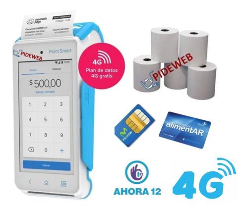 Imagen 1 de 9 de Mercado Pago Point Smart C/chip Celular + Impresora Posnet