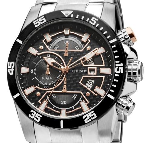 Relógio Technos Masculino C/ Cronógrafo De Aço - Os10eq/1p