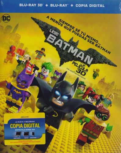 Imagen 1 de 3 de Lego Batman La Pelicula En Blu-ray 3d + Blu-ray + Cop Dig