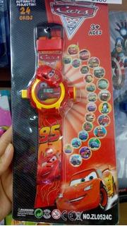 Reloj Spiderman Cars Y Hulk Con 24 Proyecciones