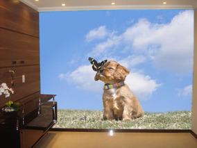 Papel De Parede Animais Cachorro Painel Fotográfico M² Anm25