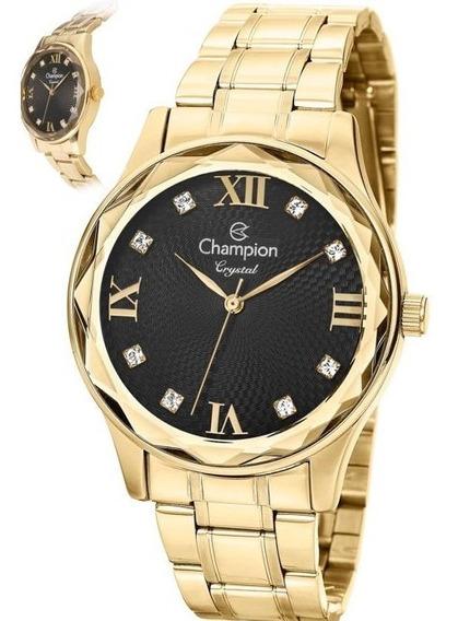 Relógio Champion Feminino Dourado Cn27465p