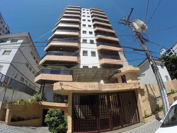 Apartamento Dois Dormitórios C/ 100 Metros Para Locação Definitiva Próximo À Praia Na Guilhermina Em Praia Grande. - Ap2623