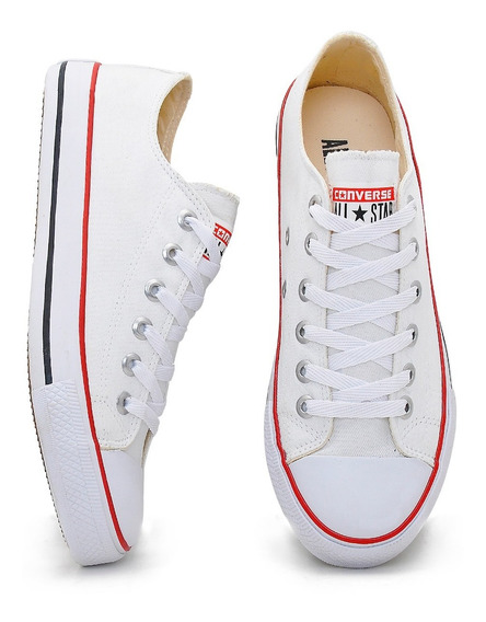 Tenis All Star Branco Skate Retro Varias Cores Oferta 40%