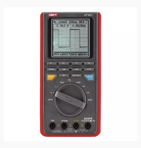 Multimetro Digital Unit Con Osciloscopio  Automotriz Ut-81c