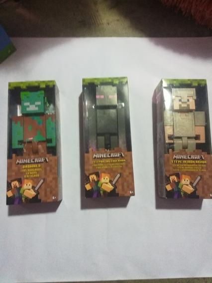Muñecos Minecraft 25cmts Importados En 30 V3rd3s Cada Uno