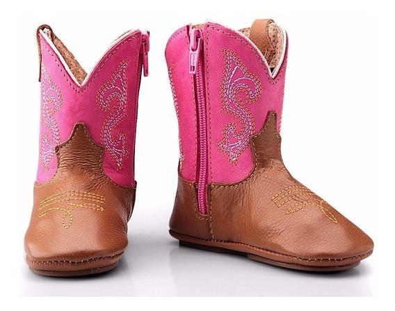 Bota Infantil Bebê Country Texana Em Couro Capelli Boots